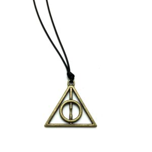 Colier deathly hallows auriu-0
